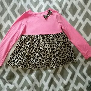 Girls Cheetah Print and Pink Top